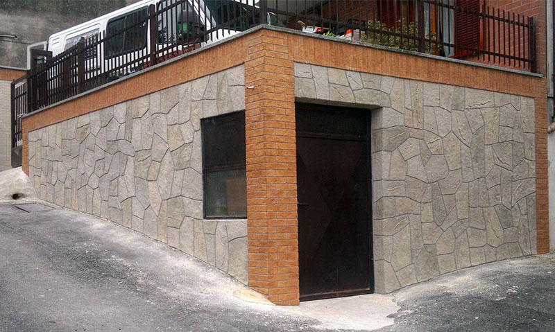 Finta pietra e mattoni