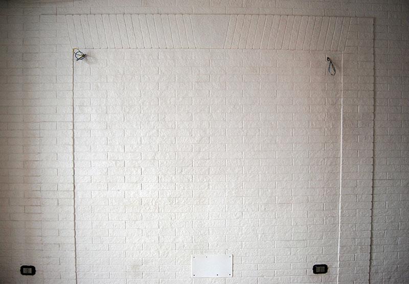 Intonaco mattone romano bianco